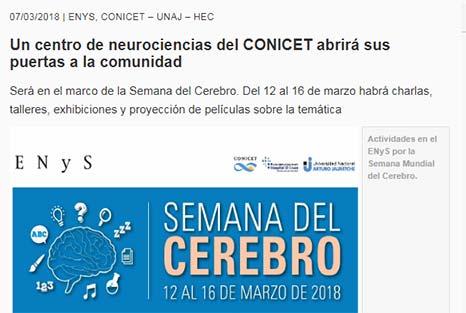 Un centro de neurociencias del CONICET abrirá sus puertas a la comunidad